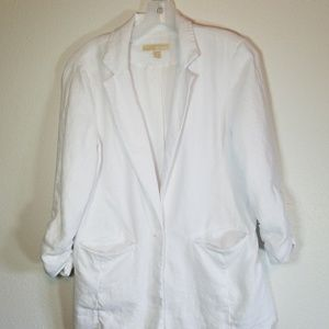 Michael Kors white linen blazer.  Sz 8.